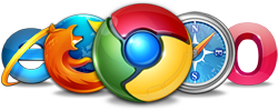 graphic of browser logos