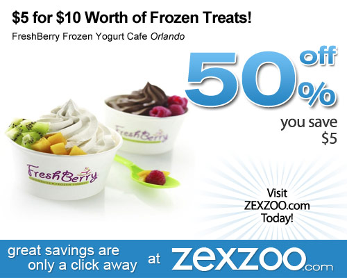 freshberry frozen yogurt cafe daily deal