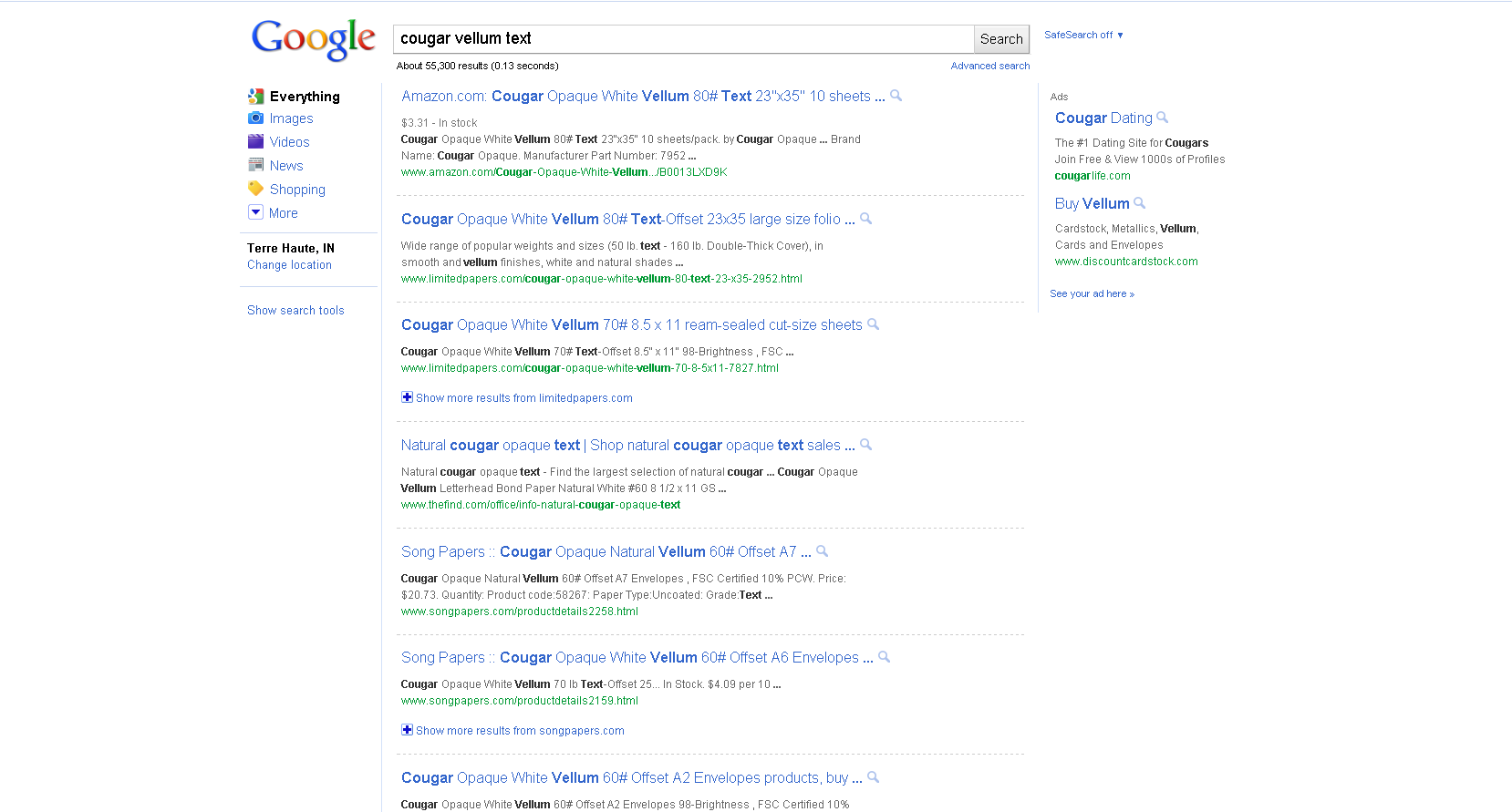 new google result page